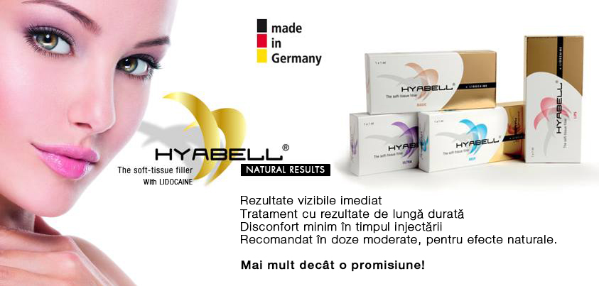 Hyabell Dermafillere cu lidocaina made in Germany